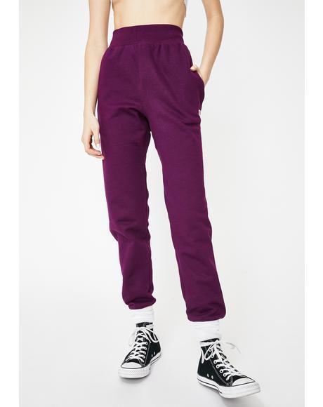 Venetian Purple Reverse Weave Joggers