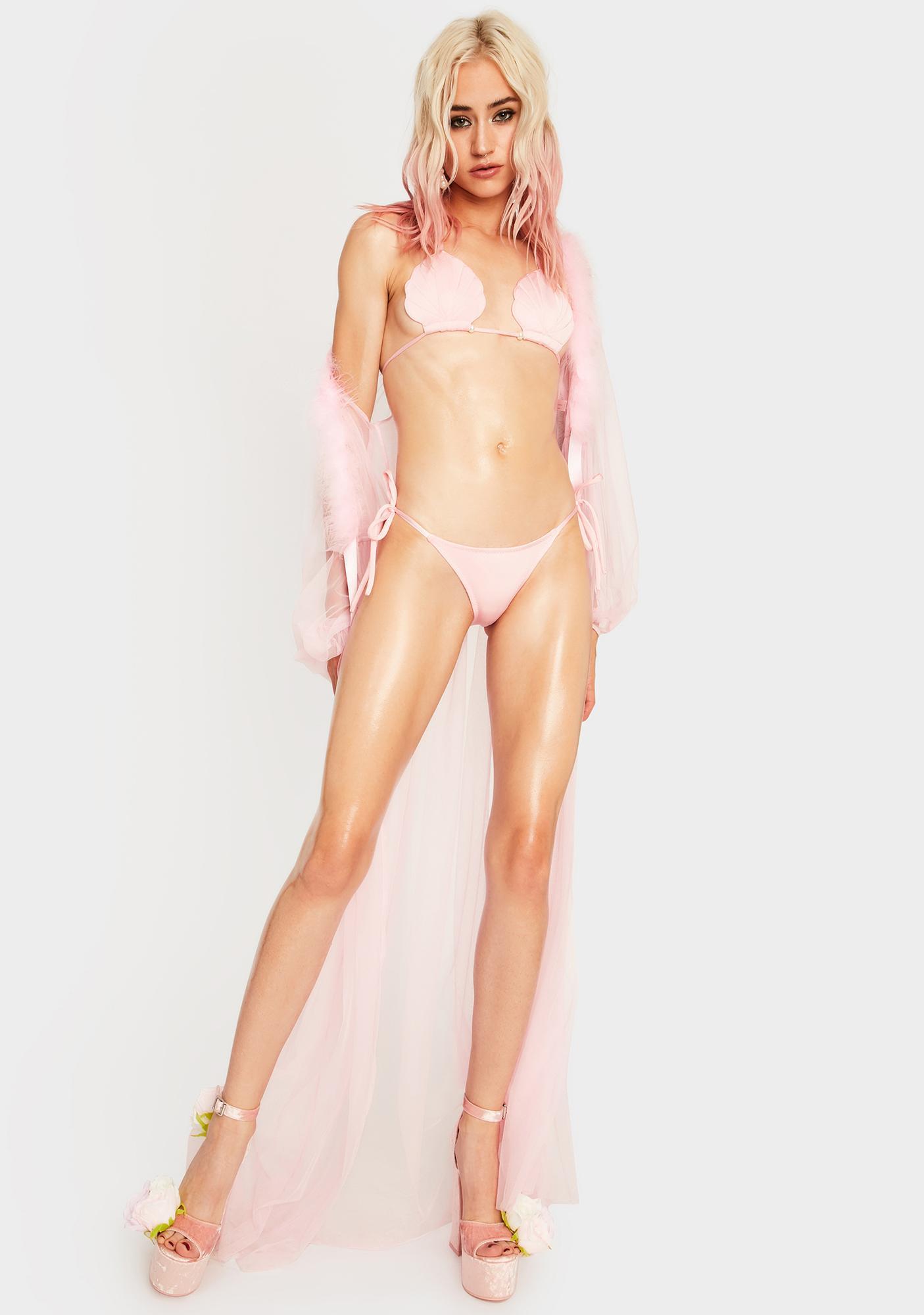Margarita Mermaid Conch Seashell Bikini Top