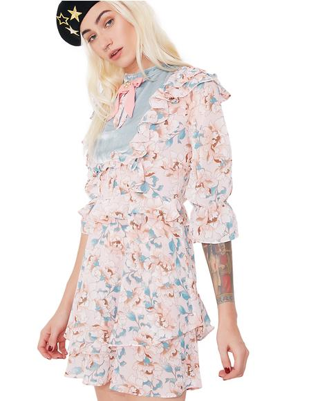 Blossom Long Sleeve Mini Dress