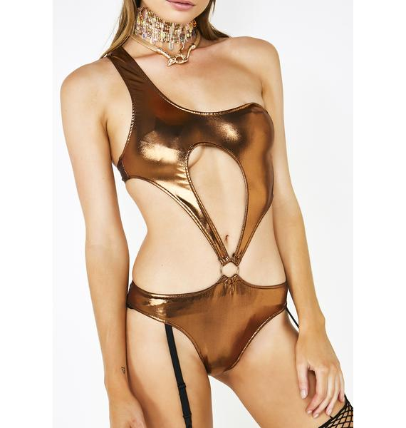 Club Exx Luminous Soul Cutout Bodysuit