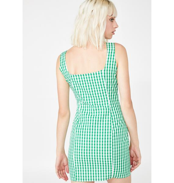Sweet Spring Gingham Dress