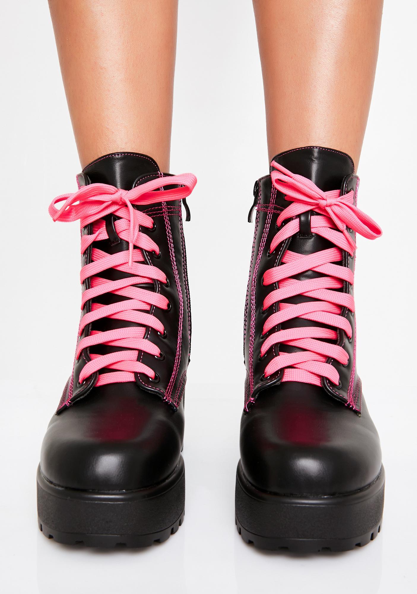 Koi Footwear Candy Kitana Combat Boots