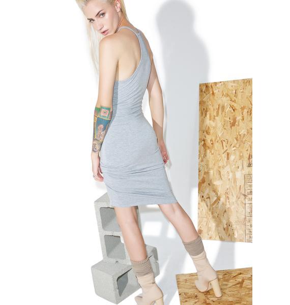 BLQ BASIQ High Neck Tank Midi Dress