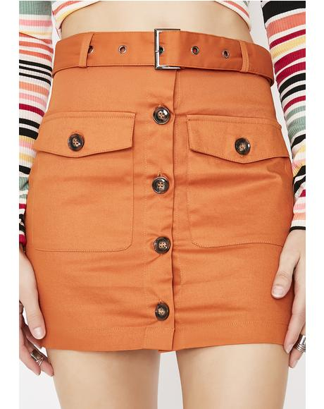 On Safari Mini Skirt