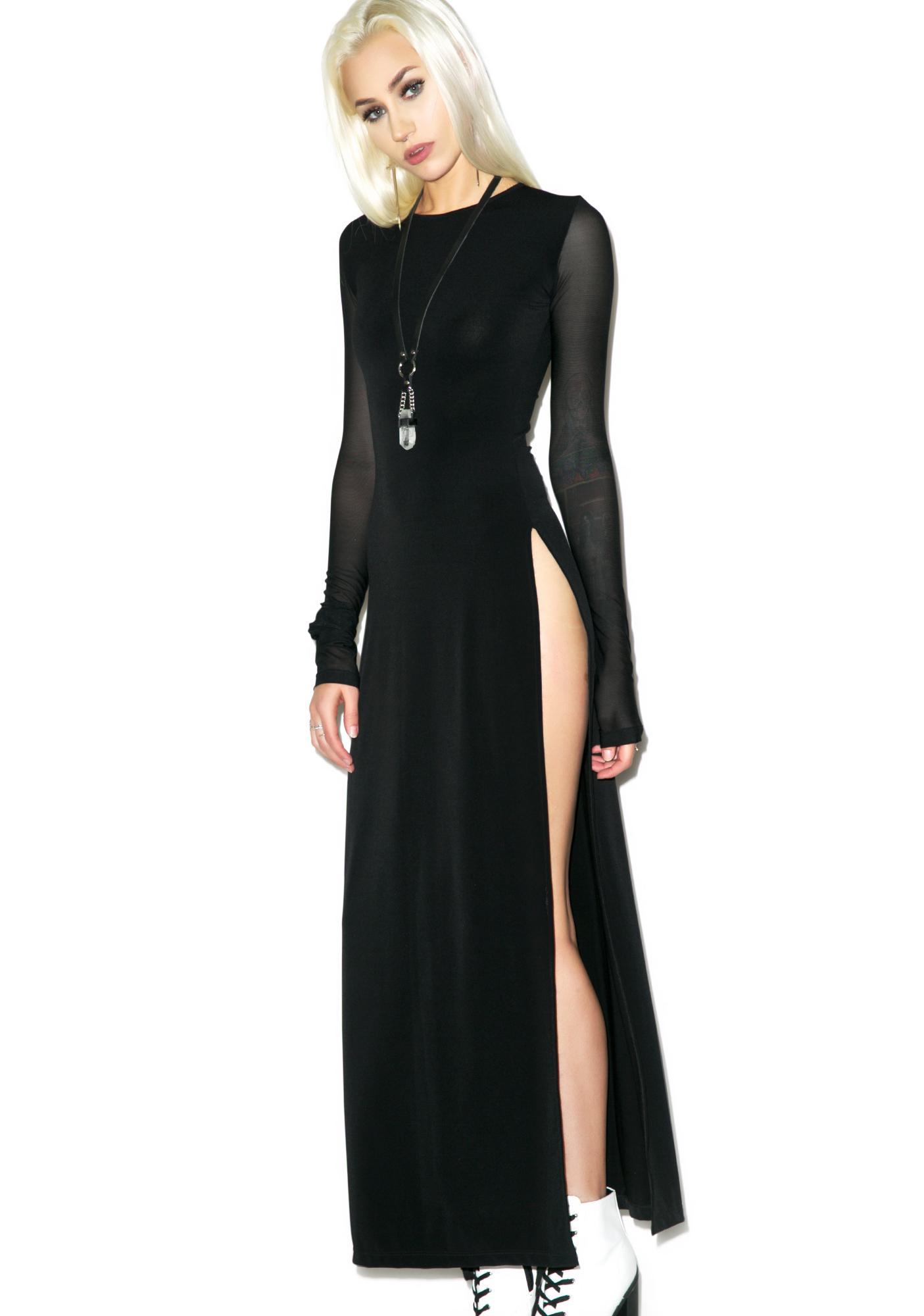 Black Wednesday Label Maxi Dress