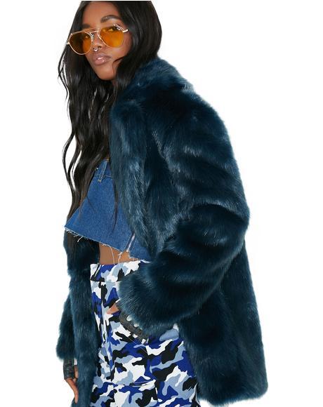 Teal Heather Coat