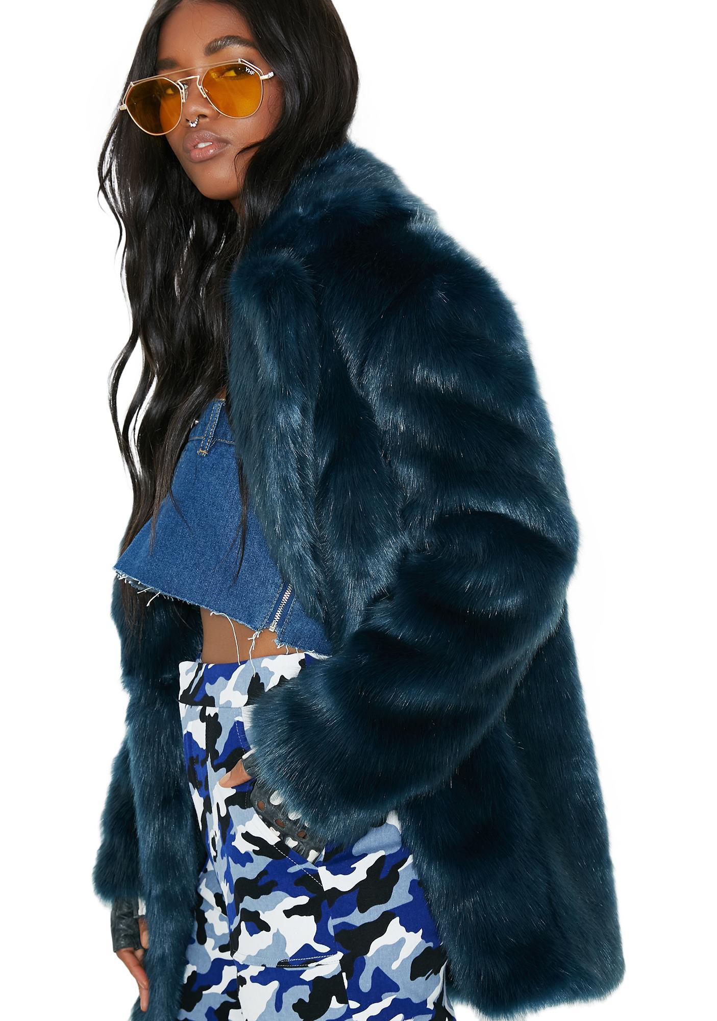 Jakke Teal Heather Coat
