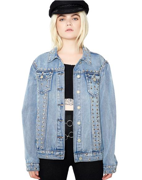Wrong Way Studded Denim Jacket