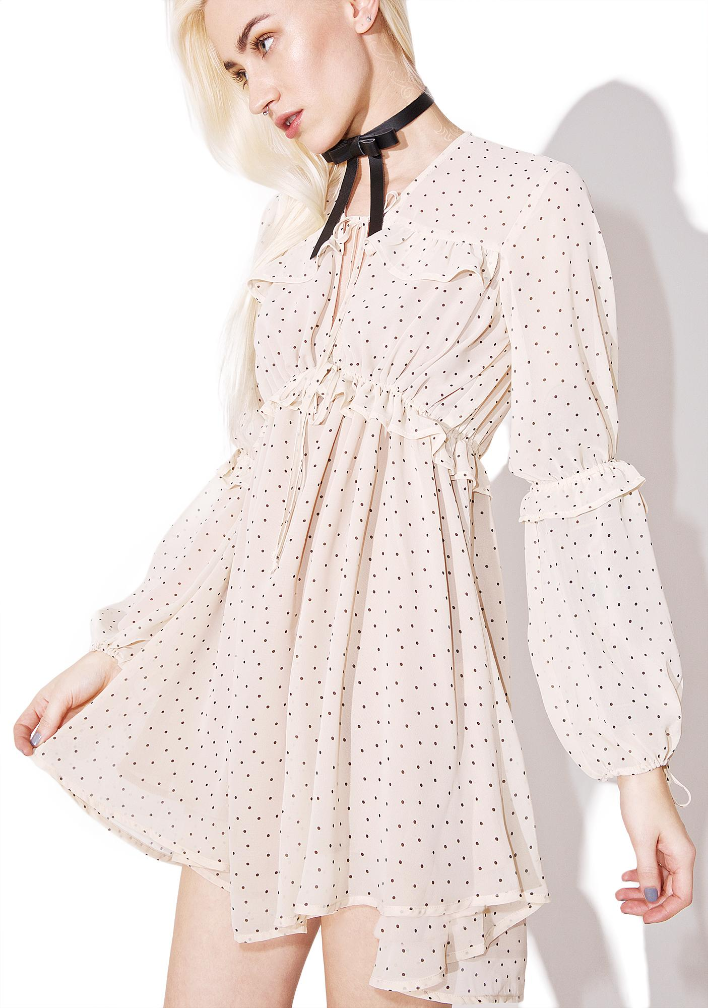 223c257dbe34 ... For Love   Lemons Creme Dot Truffles A-Line Dress ...