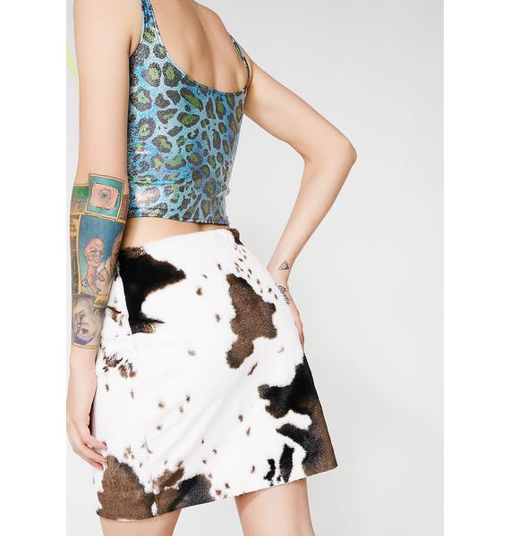 Sicko Cartel Laila Lace-Up Skirt