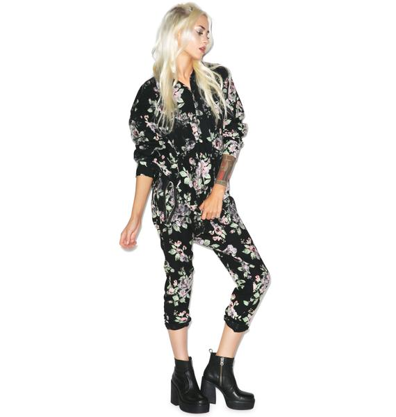 Wildfox Couture Vintage Flannel Roses Ryan's Jogger