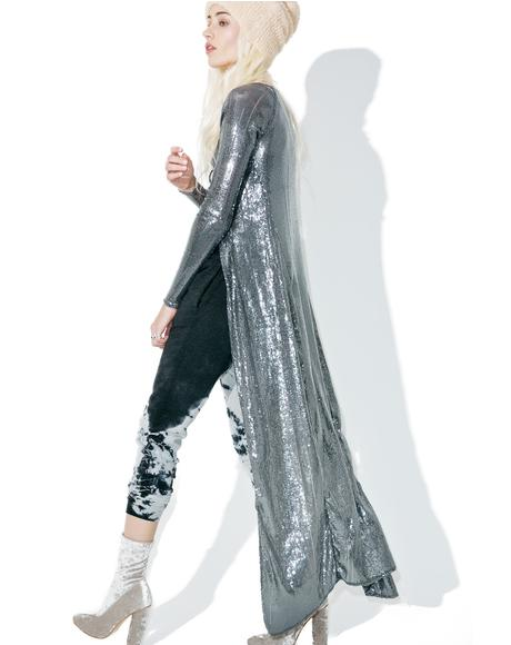 Kit Sequined Duster Jacket