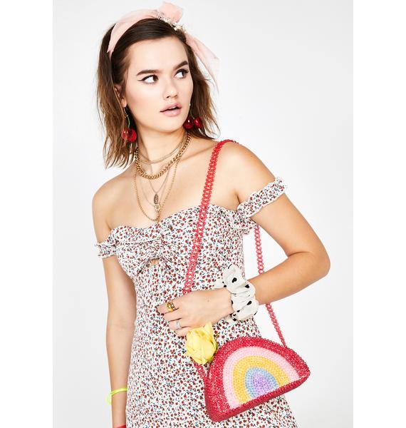 Skinnydip Rainbow Beaded Bag