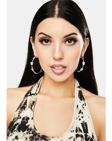 Shining With Abandon Butterfly Hoops