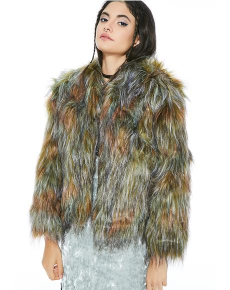 Why You Lion Furry Jacket
