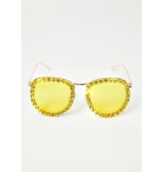 Electric Glamour Patrol Rhinestone Sunglasses