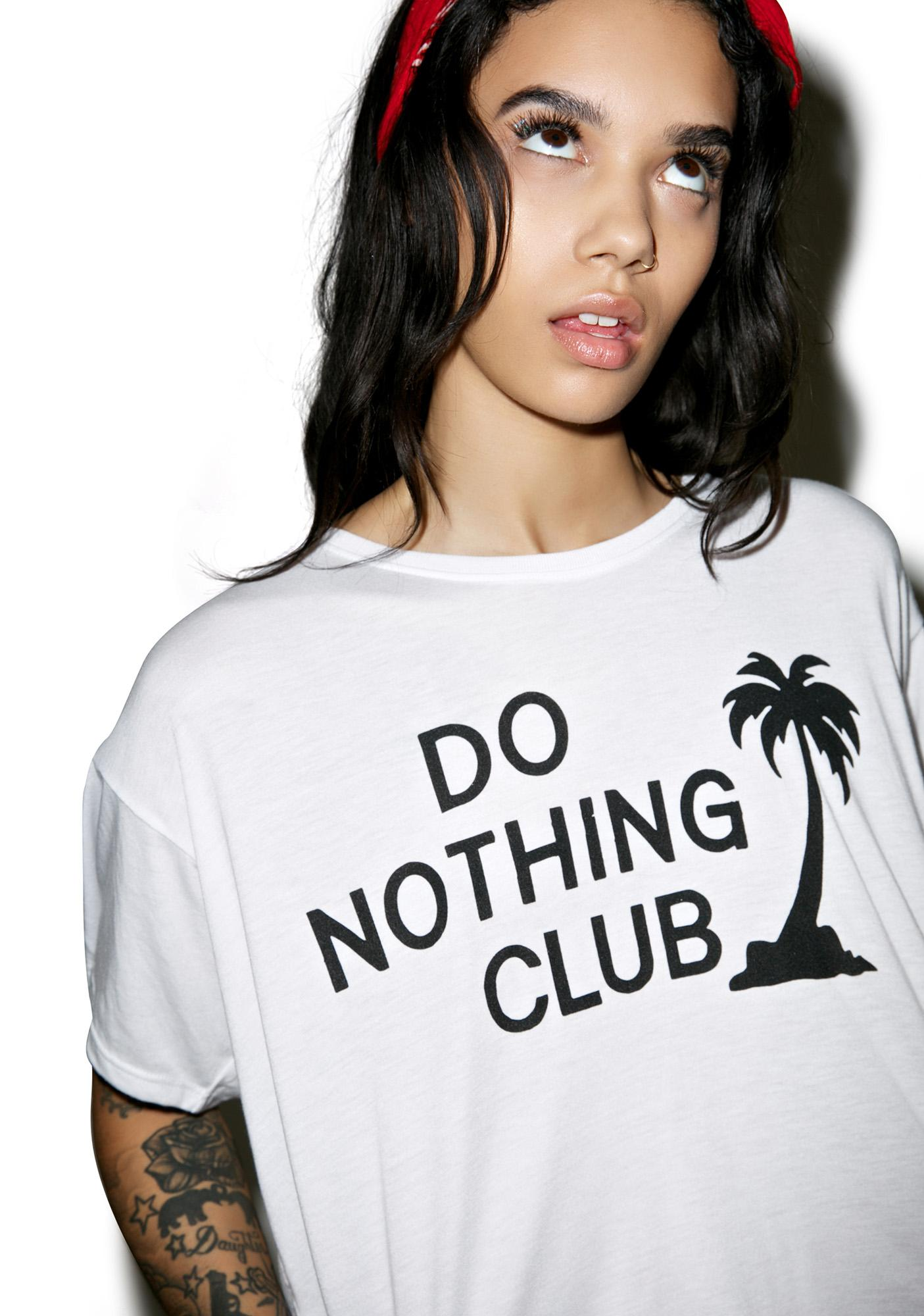 Burger And Friends Do Nothing Club Crop Top