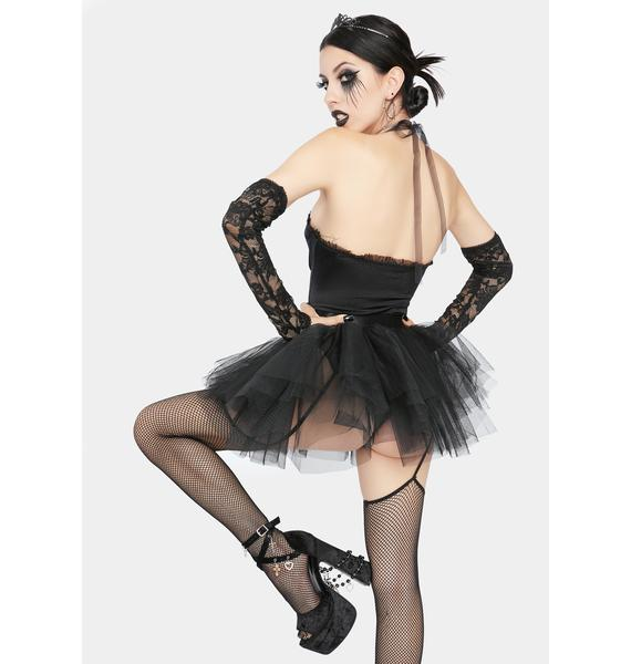 Dolls Kill Not So Goody Two Shoes Black Swan Costume