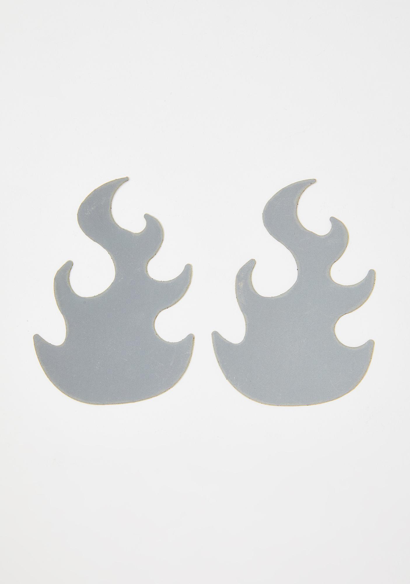 Neva Nude Reflective Flame Pasties