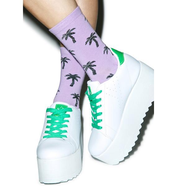 Local Heroes Glitter Palms Socks