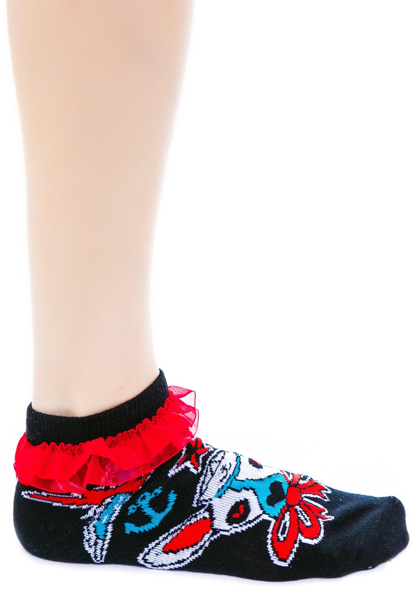 Too Fast Ahoy Ruffle Ankle Socks