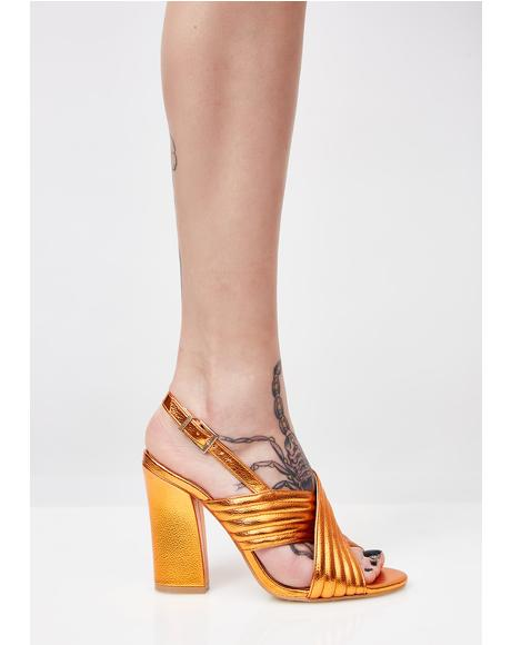 Sunset Dust Cross Over Heeled Sandals