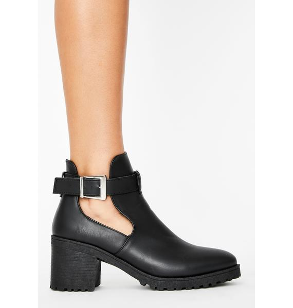 Call It Quits Ankle Booties