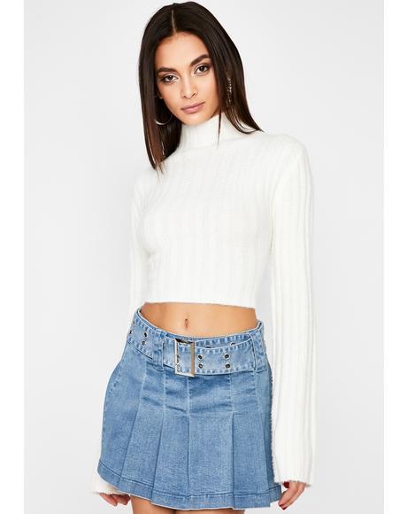 Not So Nice Crop Sweater