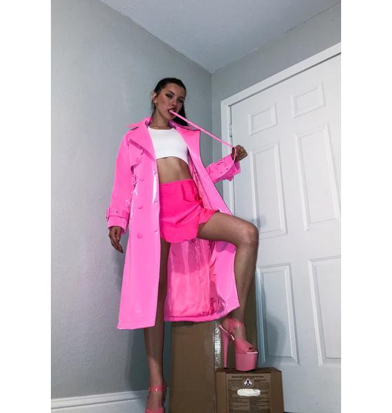 AZALEA WANG Jenvi Liquid Velvet Trench Coat