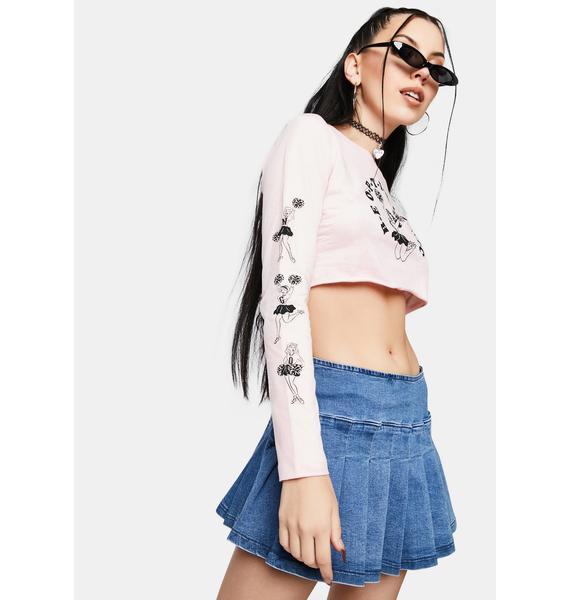 NEW GIRL ORDER Cheer Long Sleeve Top
