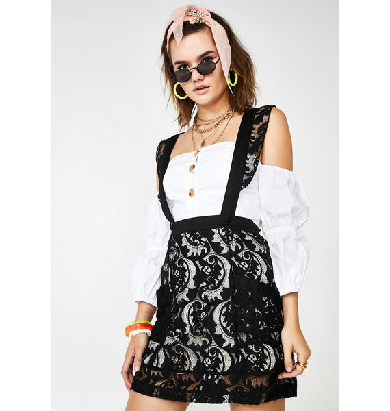 Jawbreaker Love Eclipse Suspender Skirt