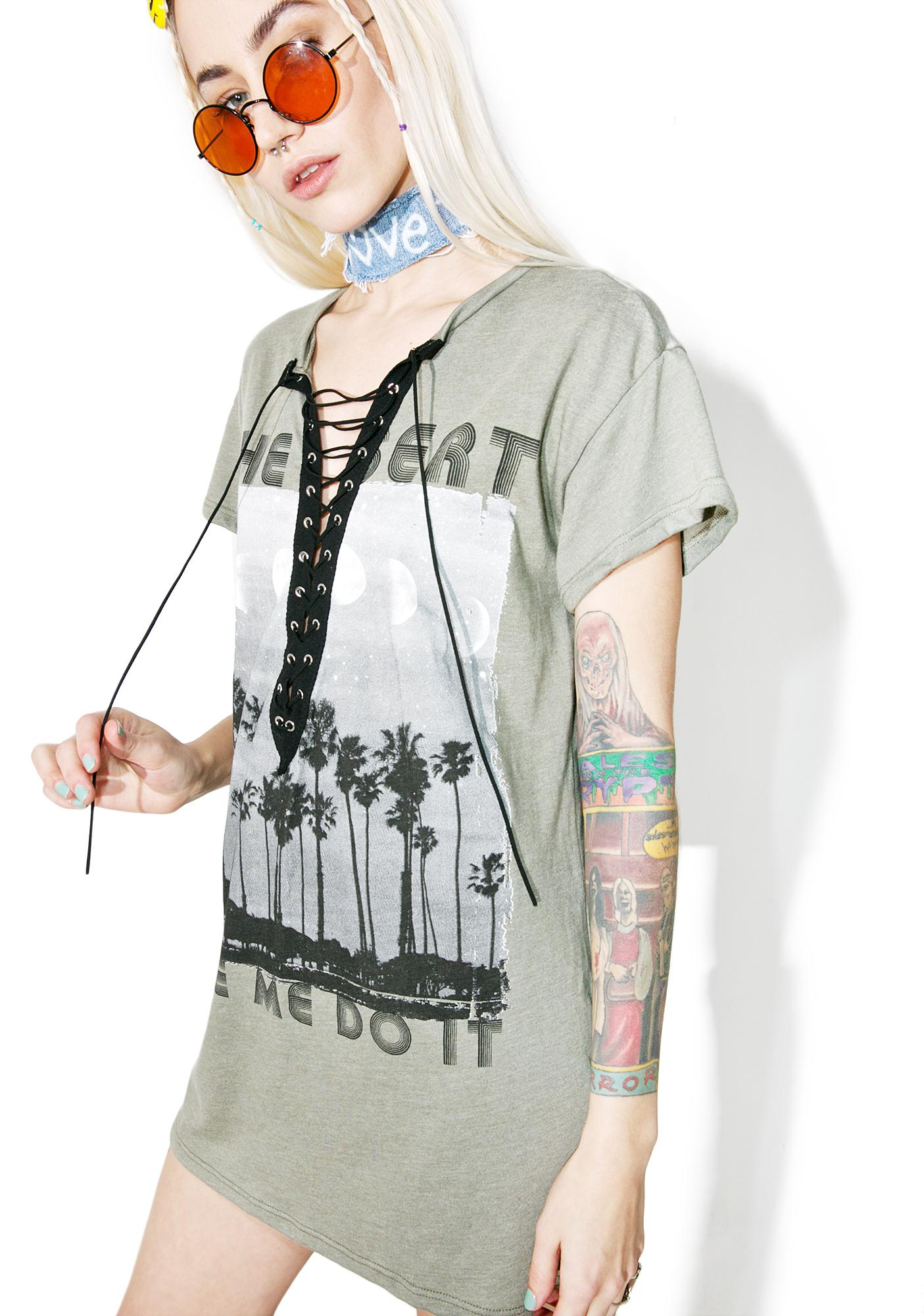 Sandstorm Lace-Up Tee