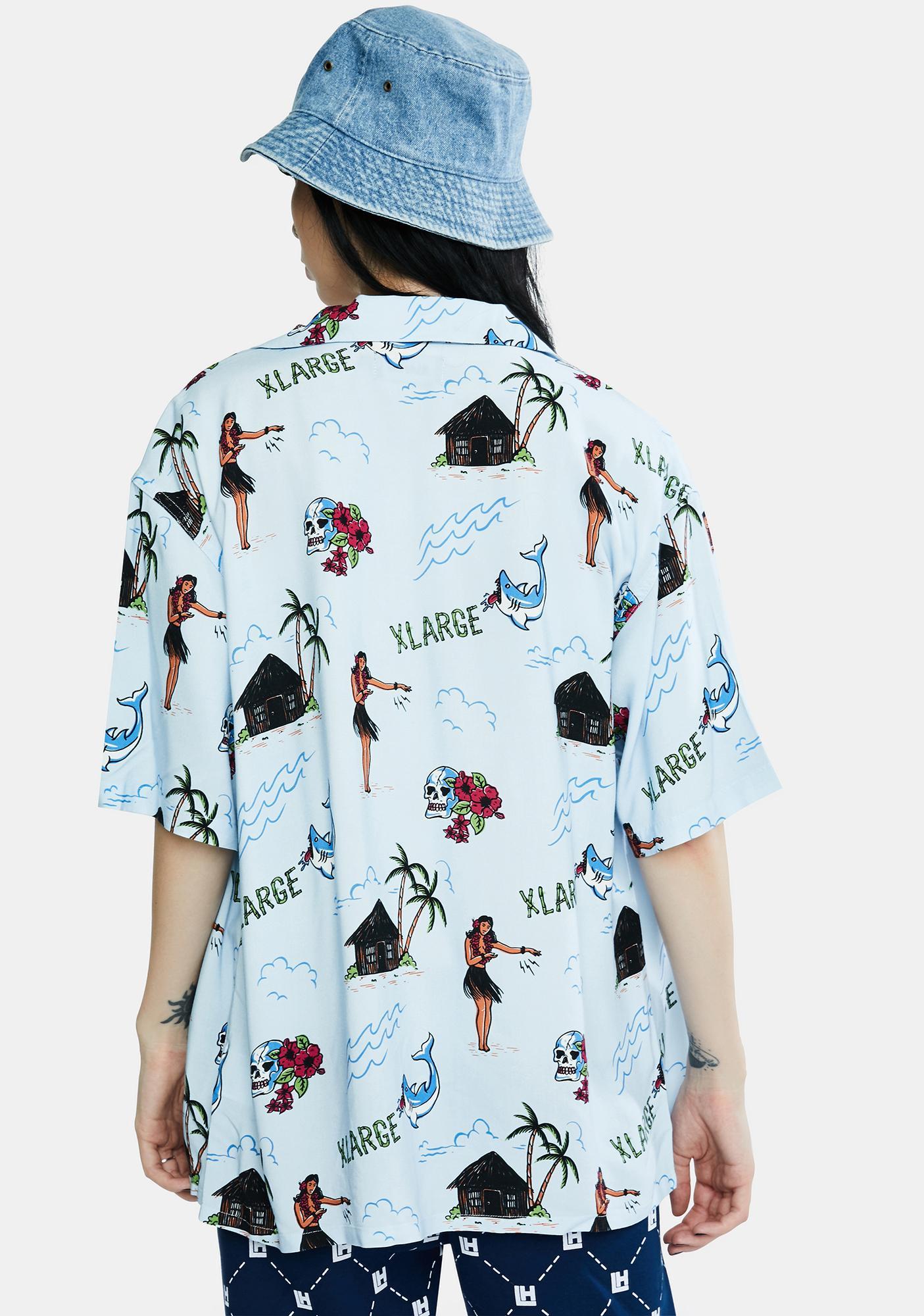 XLARGE Vintage Aloha Button Up Shirt