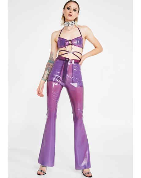 Tex Flare Latex Trousers