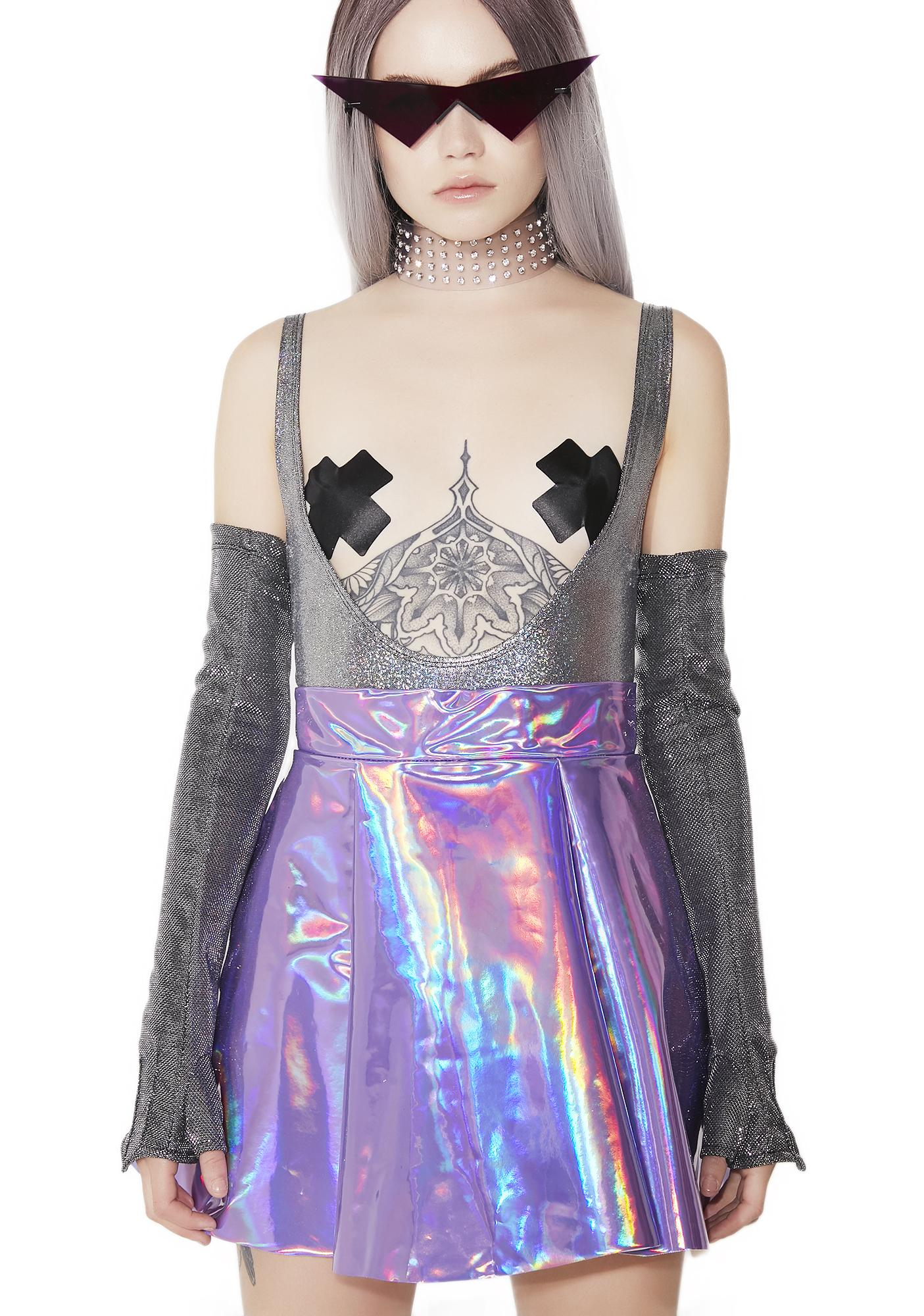 Cosmic Unicornz Holographic Skirt