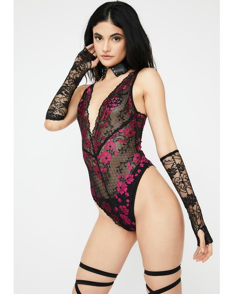 Born To Perform Lace Teddy