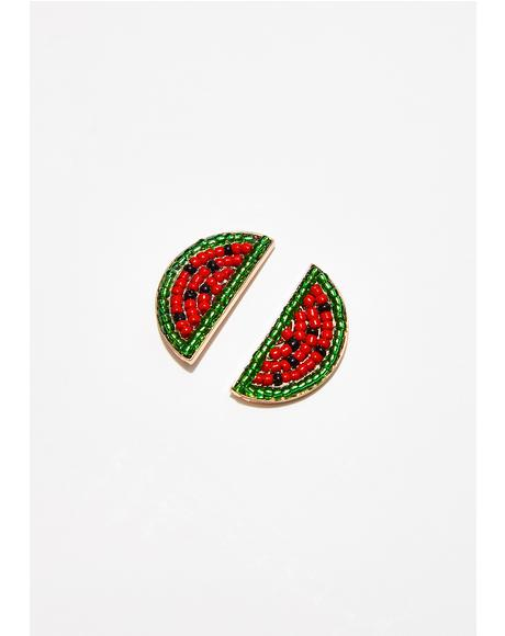 Make It Juicy Watermelon Earrings