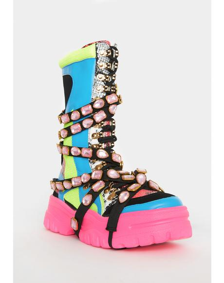 Candy High Hopes Platform Boots