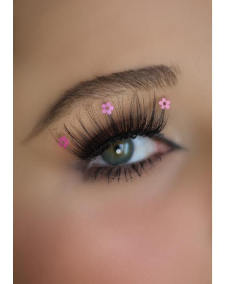 Pink Flower Power Lashes