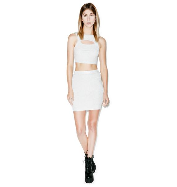 Lilith High Waisted Knit Skirt
