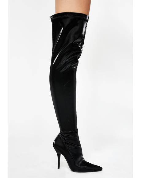 Baller Vinyl Boots