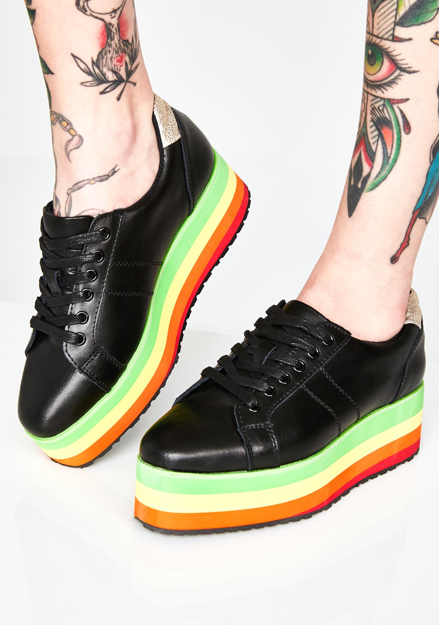 Volatile Shoes Blackout Jukebox Rainbow Sneakers
