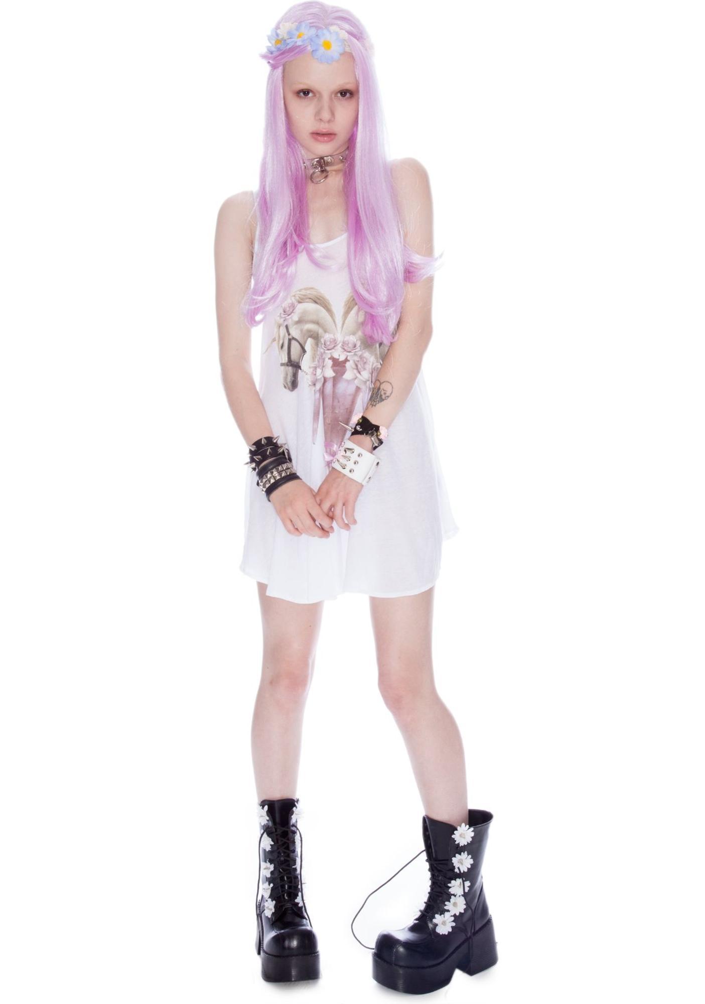 Wildfox Couture Unicorn Castle Slip Dress