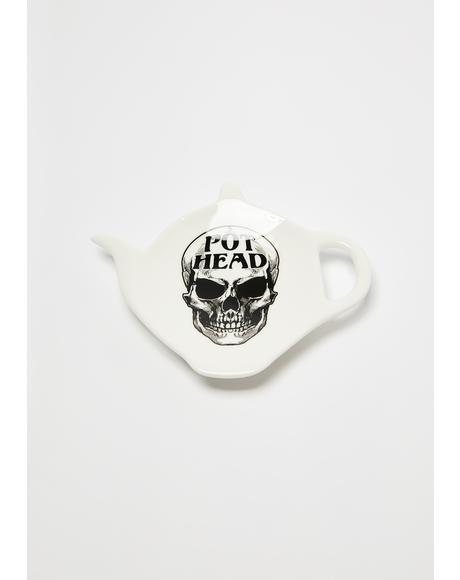 Pot Head Teaspoon Holder