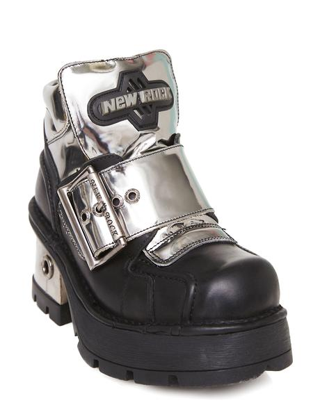 Buckled Up Chrome Boots