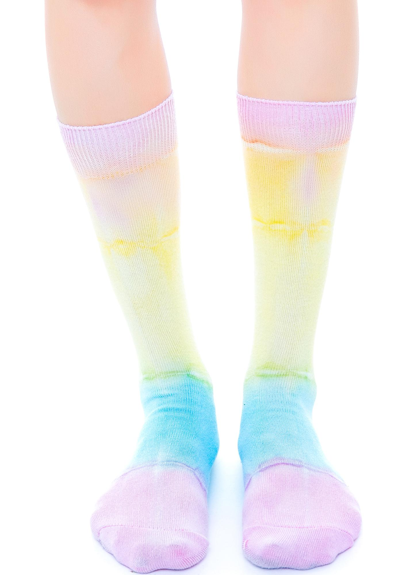 O Mighty Sweet Like Ice Cream Tie Dye Socks