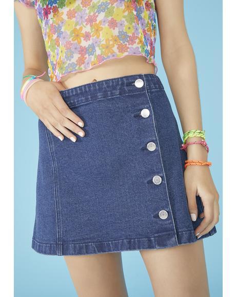 Feelin' Swell Denim Skirt