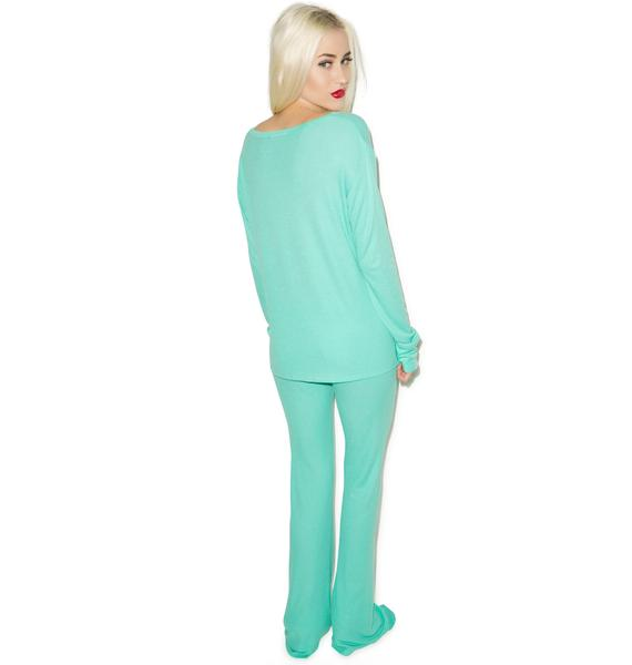 Wildfox Couture Ho Ho Polar Pajama Set