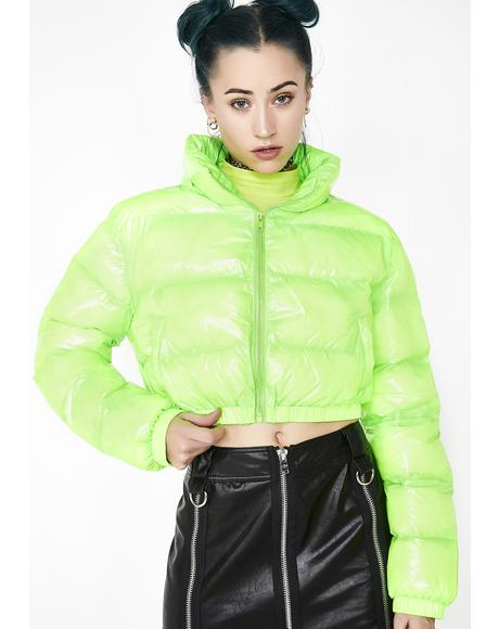 Acid Limelight Puffer Jacket