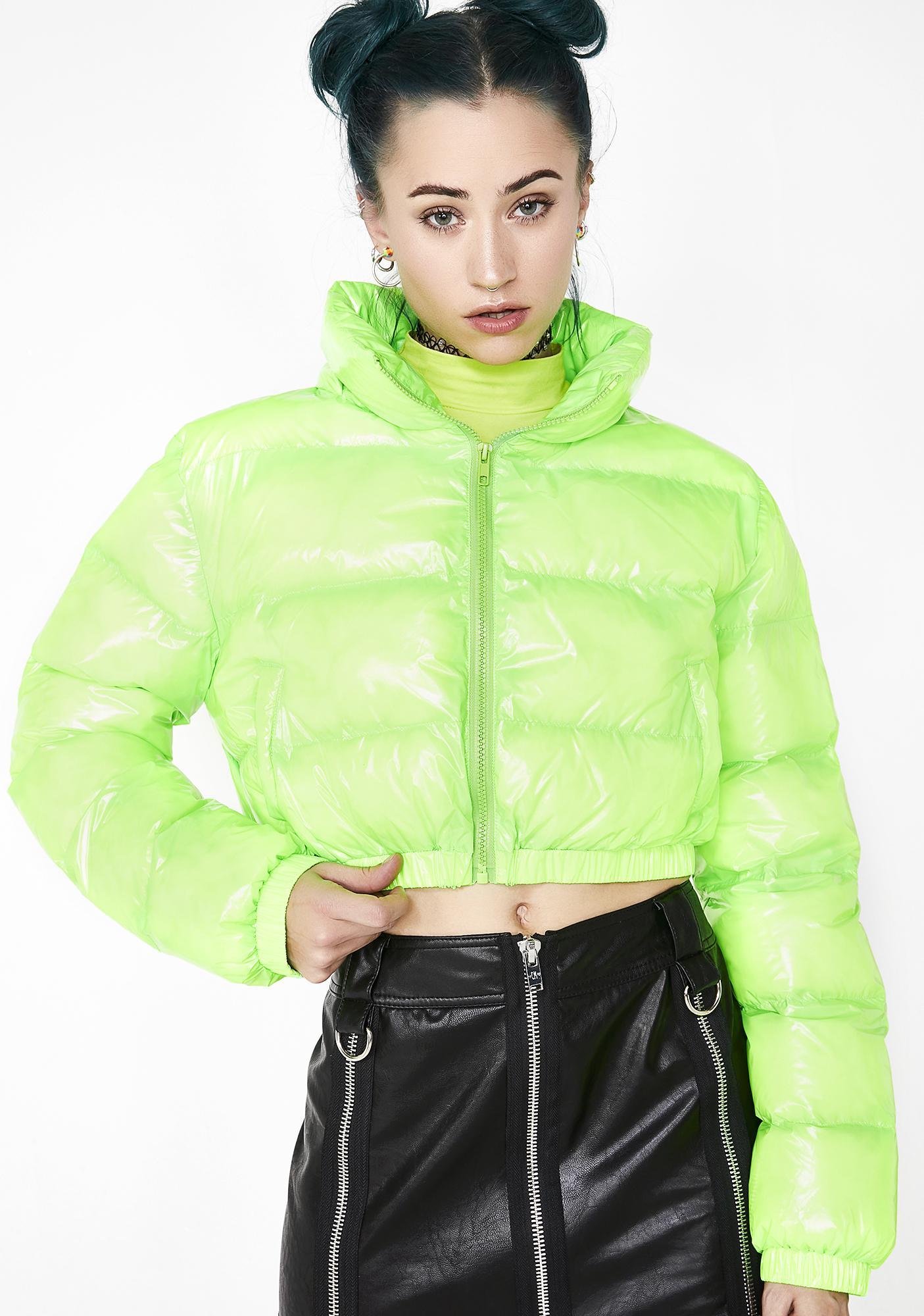 de562c0e02513b Current Mood Acid Limelight Puffer Jacket